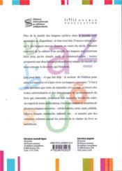 Langues minorées - 4ème de couverture - Format classique