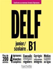DELF scolaire et junior ; FLE ; B1 - Couverture - Format classique