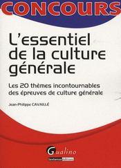 L'essentiel de la culture générale - Intérieur - Format classique