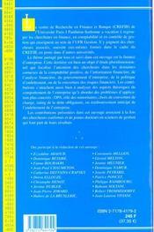 Finance D'Entreprise - 4ème de couverture - Format classique