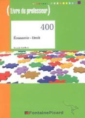 Eco droit 2e editione bac techno hotellier corrige - Couverture - Format classique