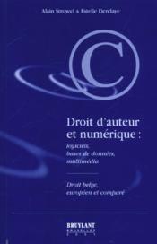 Droit d'auteur et numerique - Couverture - Format classique