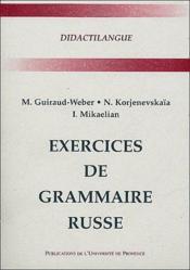 Exercices de grammaire russe - Couverture - Format classique