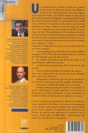 Dérivés de crédit vanille et exotiques : produits, modèles et gestion des risques - 4ème de couverture - Format classique
