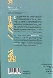 Bicyclette, La - 4ème de couverture - Format classique