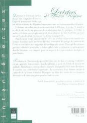 Lectrices d'ancien regime [actes du colloque, 27-29 juin 2002] - 4ème de couverture - Format classique