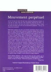 Mouvement Perpetuel - 4ème de couverture - Format classique