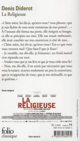 La religieuse - 4ème de couverture - Format classique