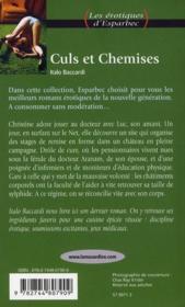 Les Erotiques D'Esparbec T.51 ; Culs Et Chemises - 4ème de couverture - Format classique