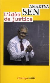 L'idée de justice - Couverture - Format classique