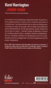 Jungle rouge - 4ème de couverture - Format classique