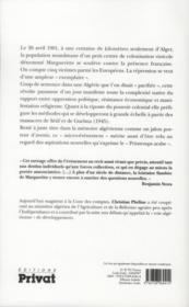 L'aube d'une révolution ; Margueritte, Algérie, 26 avril 1901 - 4ème de couverture - Format classique