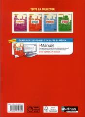 REFLEXE ; droit ; 1re STMG - 4ème de couverture - Format classique