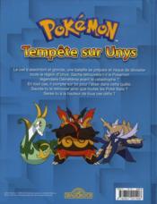 Pokémon ; tempête sur Unys - 4ème de couverture - Format classique