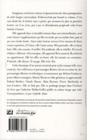 Correspondance, 1951-1990 - 4ème de couverture - Format classique