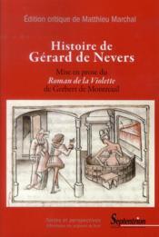 Histoire De Gerard De Nevers - Couverture - Format classique