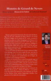 Histoire De Gerard De Nevers - 4ème de couverture - Format classique