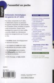 Dictionnaire chronologique des guerres du XX siècle - 4ème de couverture - Format classique