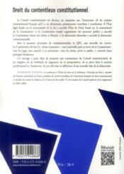 Droit du contentieux constitutionnel (10 e édition) - 4ème de couverture - Format classique
