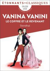 Vanina Vanini ; le coffre et le revenant - Couverture - Format classique