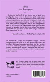 Lettres d'un voyageur t.2 ; Venise - 4ème de couverture - Format classique