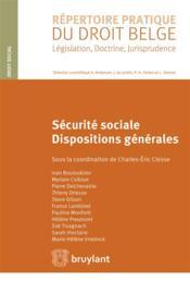 Sécurité sociale ; dispositions générales - Couverture - Format classique