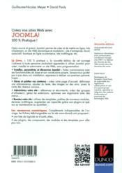 Créez votre site web avec Joomla! (2e édition) - 4ème de couverture - Format classique
