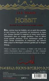Le hobbit - 4ème de couverture - Format classique