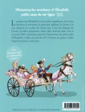 Elisabeth, princesse à Versailles T.2 ; le cadeau de la reine - 4ème de couverture - Format classique