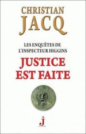 Les enquêtes de l'inspecteur Higgins T.20 ; justice est faite - Couverture - Format classique