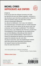Hippocrate aux enfers ; les médecins des camps de la mort - 4ème de couverture - Format classique