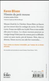 Histoire du petit mousse et autres contes d'hiver - 4ème de couverture - Format classique