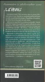 Leibniz - 4ème de couverture - Format classique