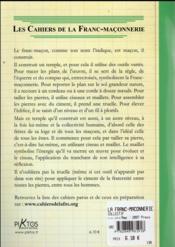 La franc-maçonnerie et l'outil - 4ème de couverture - Format classique