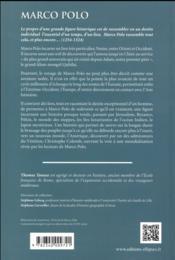 Marco polo - 4ème de couverture - Format classique