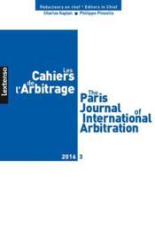 LES CAHIERS DE L'ARBITRAGE ; 2016 t.3 - Couverture - Format classique