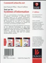Tout sur le système d'information ; grandes, moyennes et petites entrprises (3e édition) - 4ème de couverture - Format classique