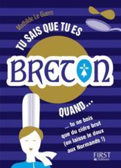 Tu sais que tu es breton quand... - Couverture - Format classique