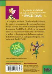 La poudre à boutons et autres secrets mirobolants de Roald Dahl - 4ème de couverture - Format classique