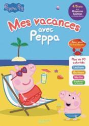 Mes vacances avec Peppa ; MS à GS - Couverture - Format classique