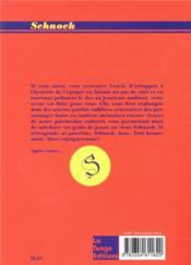 REVUE SCHNOCK N.30 ; Gérard Depardieu - 4ème de couverture - Format classique