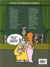 Le Chat T.22 ; la rumba du chat - 4ème de couverture - Format classique