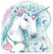 Licorne style ; ma pochette créative ; licorne des fleurs - Couverture - Format classique