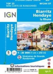 M1244OT ; Biarritz, Hendaye, la Rhune - 4ème de couverture - Format classique