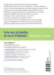 Parle-leur de batailles, de rois et d'éléphants - 4ème de couverture - Format classique