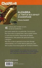 Aldabra, la tortue qui aimait Shakespeare - 4ème de couverture - Format classique