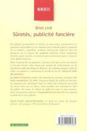 Droit Civil ; Suretes ; Publicite Fonciere ; 14e Edition - 4ème de couverture - Format classique