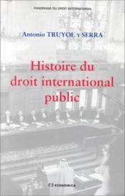 Histoire Du Droit International Public - Couverture - Format classique