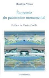 Economie Du Patrimoine Monumental - Couverture - Format classique