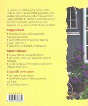 Cours Et Petits Jardins Fleuris - 4ème de couverture - Format classique